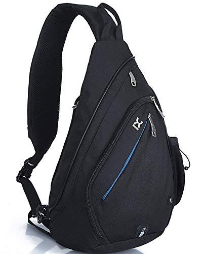 Freemaster zaino sportivo, zaino borsa a tracolla, per campeggio, palestra scuola, ciclismo, borsa piccola a tracolla, Bambino Uomo donna, Black