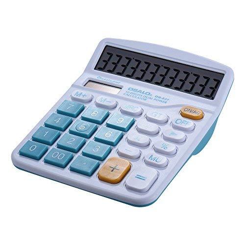 KKmoon Colorful Tisch-Taschenrechner Standard Funktionen Solar- und Batterie- dualbetrieben, 12 Ziffern