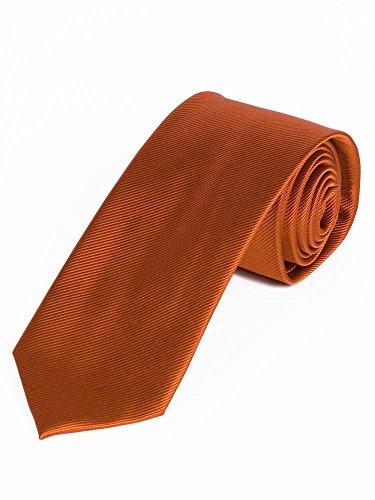 Lorenzo Guerni PREMIUM - italienisches Design - 100% Seide Seidenkrawatte in uni orange