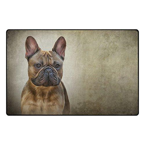 MyDaily Zeichnen Hund Französische Bulldogge Bereich Teppich 3