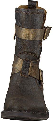 Tamaris Biker-Stiefelette im Rough-Stile mit 2 Riemchen und Schnallen in Braun 1-25023-23 329 Mocca Gold Braun