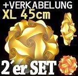 1x Puzzle Hängelampe Lampada Romantica Groesse XL inkl. Verkabelung