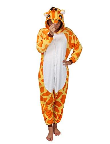 Imagen de très chic mailanda  disfraz para adultos, unisex, carnaval, animales, mono con capucha, diseño de jirafa, halloween