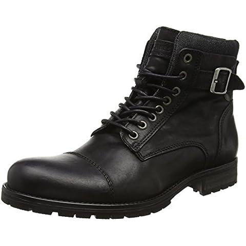 JACK & JONES Jfwalbany Leather Boot, Botas Militar Para Hombre