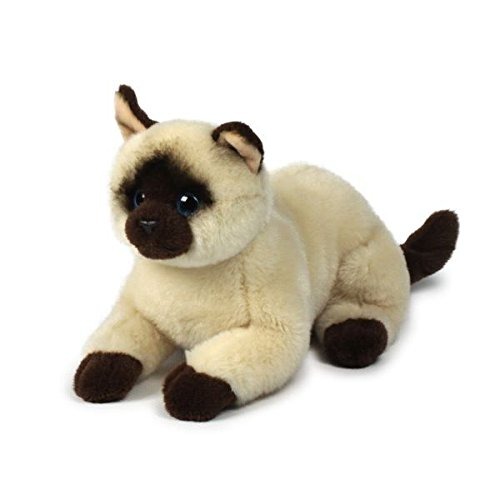 Anna Club Plush Lying Siamese Cat Soft Toy