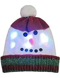 POLP Mujeres Regalo Hombre Gorro de luz LED de Punto para Mujer Navidad  navideña Gorro navideño d548b2db72f