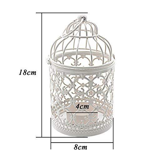 Kerzenhalter | Vogelkäfig, weiß