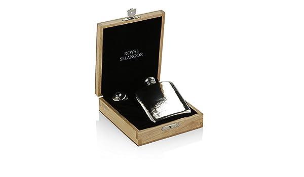 in blonder Holzkiste 130ml Royal Selangor Hand Fertig Geschenk-Kollektion Zinn Flachmann