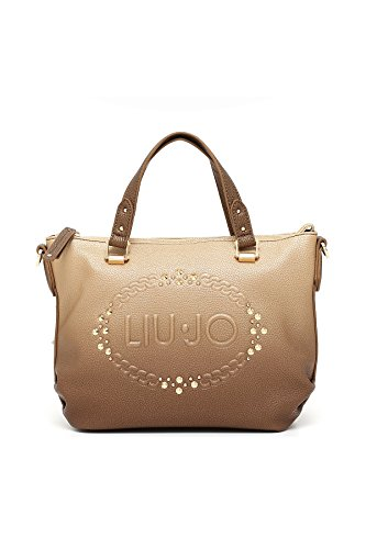 Borsa shopping Liu Jo mini sf logo lucciola sfumata oro gold light gold Liu Jo