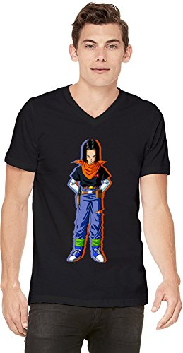 Android 17 T-shirt col V pour hommes X-Large