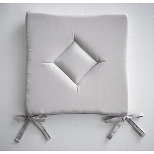 Today cuscino classico, chantilly, in poliestere, dimensioni: 40 x 40 x 3 cm, poliestere, grigio, 40x40x3 cm
