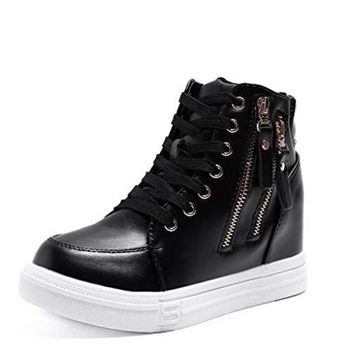 Sneakers Alte da Donna con Zeppa Sneakers con Piattaforma in Pelle Impermeabile Scarpe da Ginnastica Sportive da Passeggio per Esterno per Il Comfort Casual alla Moda