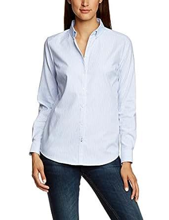 ONLY Damen Regular Fit Bluse OXFORD LS SHIRT NOOS, Gr. 36, Mehrfarbig (White/Stripes: Blue C-N100-1)