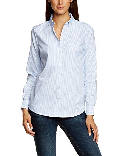 ONLY Damen Regular Fit Bluse OXFORD LS SHIRT NOOS, Gr. 38, Mehrfarbig (White/Stripes: Blue C-N100-1) (Mod Top Shirt)