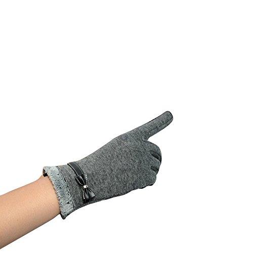Longra Damen berühren Bildschirm Winter warm Handgelenk Handschuhe Fäustlinge (Kostüm Baby Ofen Im)