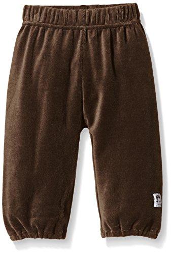 Pippi Velour Sweat-pants -solid-Pantaloni Bambina    Marrone (Chocolate) 12-18 mesi