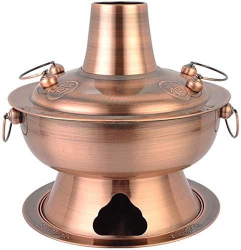 Tradicionales carbón cobre Hot Pot - Hecho grueso