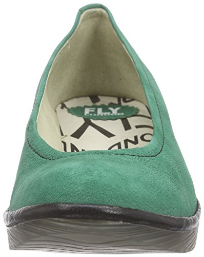Fly London - Pump, Sandali Donna Verde (Grün (GREEN/BLACK 063))
