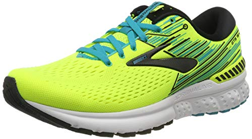 Brooks Adrenaline GTS 19, Scarpe da Running Uomo, Giallo (Nightlife/Black/White 741), 43 EU