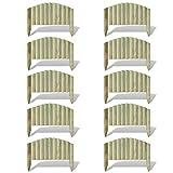 vidaXL 10x Palizzata in Legno FSC 55 cm Recinzione ad Arco Bordura da Giardino