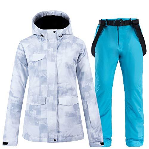 KTUCN Mode Männer und Frauen Schneeanzug Tragen Snowboard Kleidung Winter 10 Karat wasserdichte Kostüme Outdoor Skifahren Jacke und Schnee Lätzchen Hose, 4, XXL (Men's Alpine Kostüm)