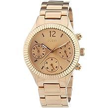 Guess W0323L3 - Reloj de cuarzo para mujer, correa de acero inoxidable chapado color oro rosa