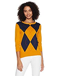 United Colors of Benetton Womens Cotton Pullover (17A1092D9014I_Multi-coloured_M)