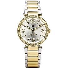 Tommy Hilfiger mujer-reloj analógico de cuarzo chapado en acero inoxidable 1781599