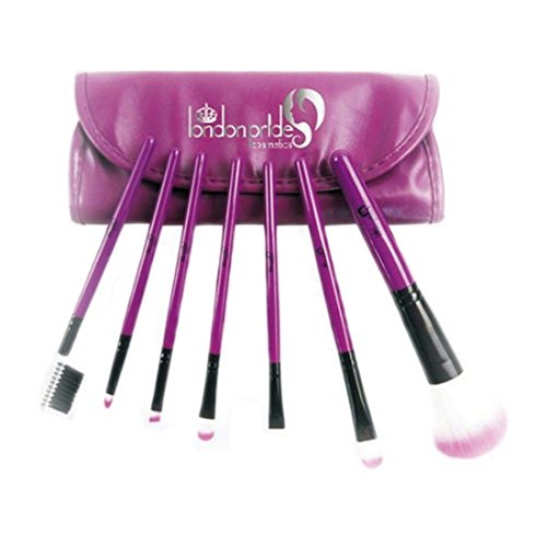 London Pride Lot de pinceaux de maquillage, Violet, 7 pièces