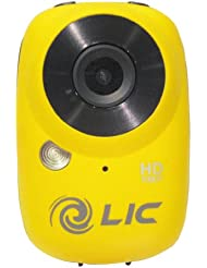 Liquid Image - Ego 727 - Caméscope pour sport HD 1080p - 12 Mpix - WiFi - Micro SDHC - USB - Jaune mat