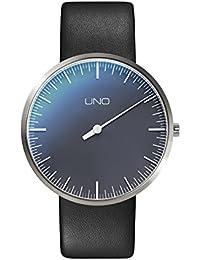 Botta Diseño Uno aniversario Edition Reloj de pulsera–einzeiger Reloj, titanio, perlschwarzes Esfera, correa de piel