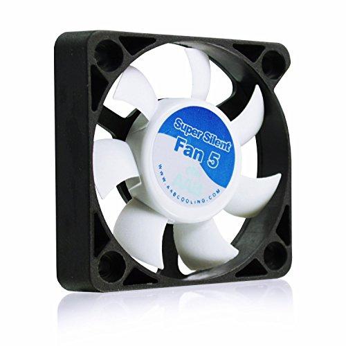 AAB Cooling Super Silent Fan 5 - 50mm leise und effizient Gehäuselüfter mit 4 Anti-Vibrations-Pads