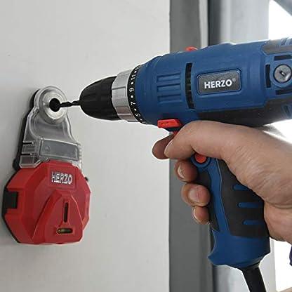 HERZO Taladro/Atornillador Configuración de 2 velocidades 300W 23 + 1 Par con 4M de Longitud Del Cable Bueno Para Daily Inicio Los Trabajos de Perforacion