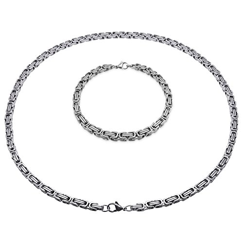 Soul-Cats Königskette Halskette Armband Set...