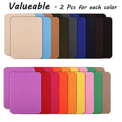 Flicken zum Aufbügeln, 18 Farben, 36 Stück, verschiedene Denim-Baumwolle, 12 x 9,5 cm, 2 Stück pro Farbe -