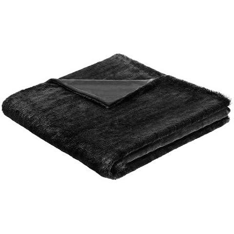Biederlack schwarz 150 x 200 cm