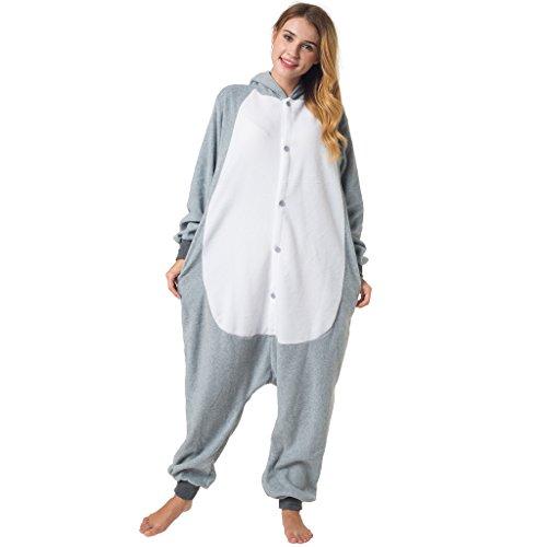 Imagen de katara  disfraz pijama de ratón, con capucha, unisex, colección kigurumi, 165 175 cm, l, color gris 1744  alternativa