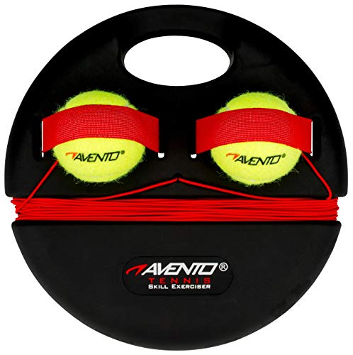 Schreuders Sport Unisex 65TA Tennis Trainer, Nero/Giallo Fluo, Taglia Unica