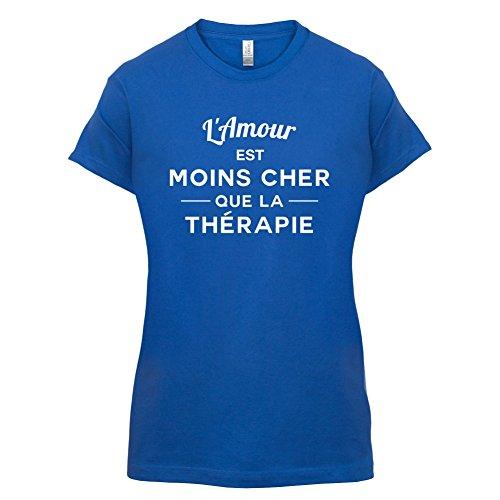 L'amour est moins cher que la thérapie - Femme T-Shirt - 14 couleur Bleu Royal