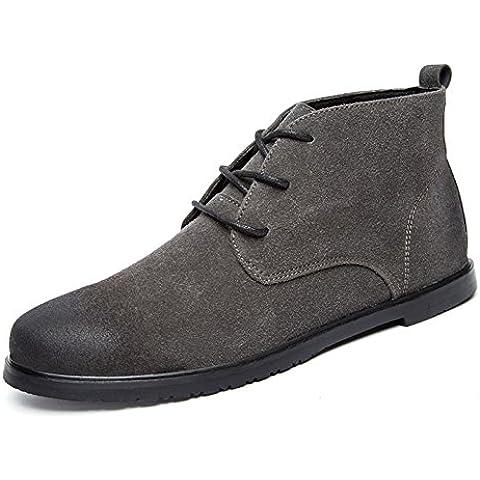 Martin in autunnali e invernali stivali/ scarpe alte uomo d'Inghilterra/ utensili stivali di cuoio maschio/Spazzolare via scarpa nabuk-uomo/Tronchetti