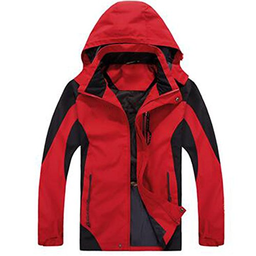 WU LAI Herren Jacken Herbst Thin Four Seasons Jacken Breathable Mountaineering Wear Outdoor Bekleidung,Red-XXXXXXL (Wu Wear Jacke)