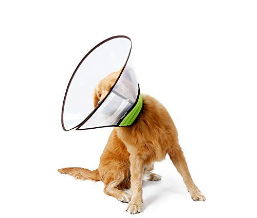 Gulunmun Soft Clear Pet Medizinische Chirurgie Erholung E Kragen, Comfy Kunststoff Halskragen, Hund Katze Wunde Schutz Kopf Kegel Hals (30-38 cm)