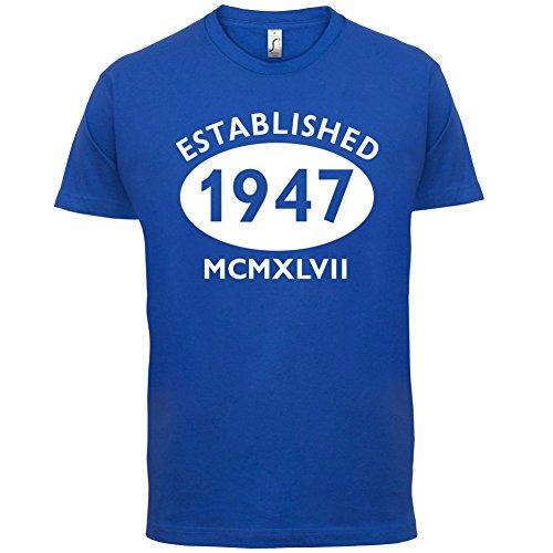 Gegründet 1947 Römische Ziffern - 70 Geburtstag - Herren T-Shirt - 13 Farben Royalblau