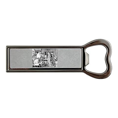 Run through - Movie set Stainless steel bottle opener and fridge magnet