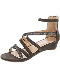 83358ff70e0b1a Ital-Design Keilsandaletten Damenschuhe Keilsandaletten Keilabsatz Wedge  Keilabsatz Reißverschluss Sandalen   Sandaletten