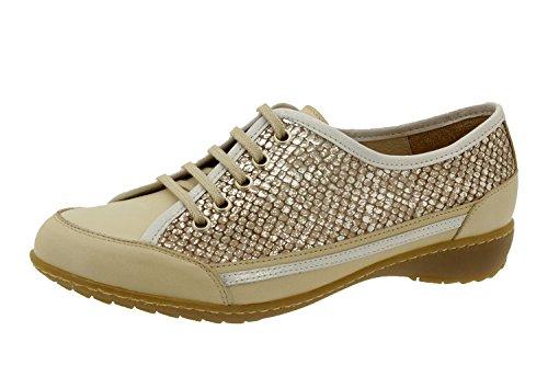 Calzado mujer confort de piel Piesanto 4751 deportivo plantilla extraíble zapato cómodo...