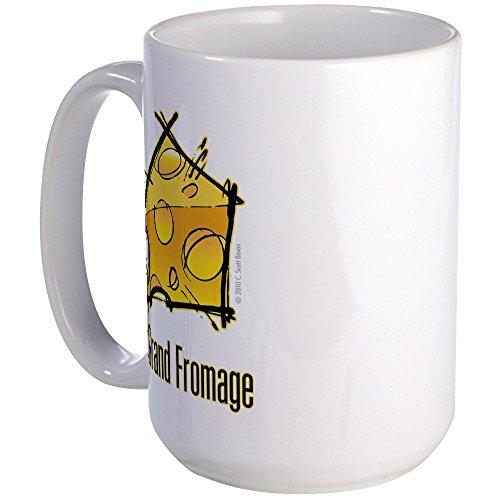 Mug CafePress avec l'inscription Le grand Fromage, 40 cl Grande tasse blanche