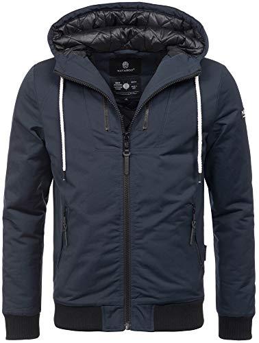 Navahoo Herren Winter Jacke leichte sportliche Jacke robust wasserabweisend Winddicht B623 [B623-Hunter-Navy-Gr.L]