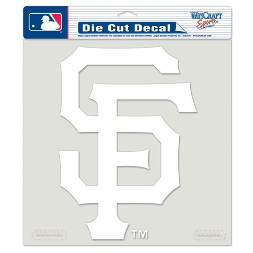 San Francisco Giants MLB vinile die cut finestra in vinile pellicola auto Team Logo Bianco 8 x 8 by WinCraft