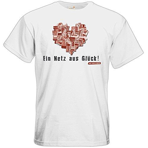 getshirts - Die Grillshow - The Shop - T-Shirt - Grillshow Netz aus Glueck White